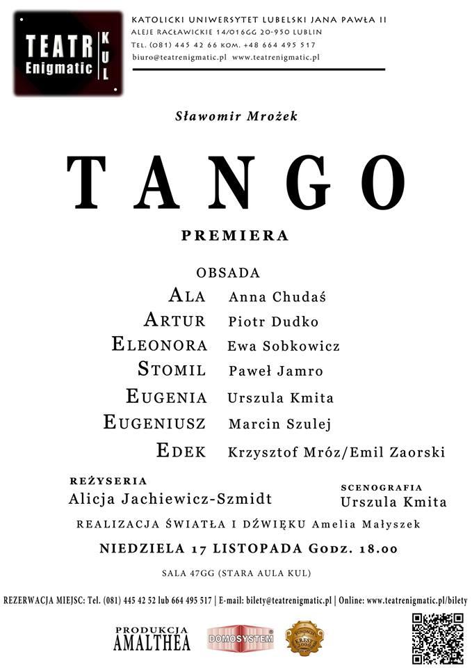 """TANGO """"ODTAŃCZONE""""  - 17 LISTOPADA 2013!"""
