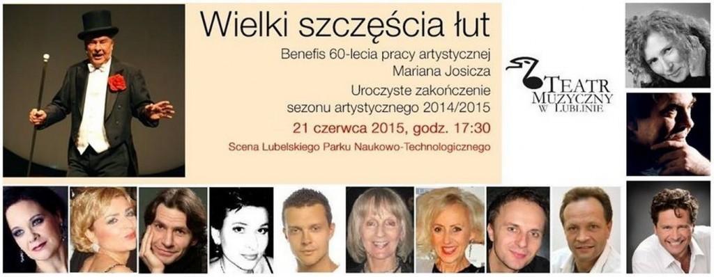 WIELKI SZCZĘŚCIA ŁUT - BENEFIS 60-LECIA PRACY ARTYSTYCZNEJ MARIANA JOSICZA